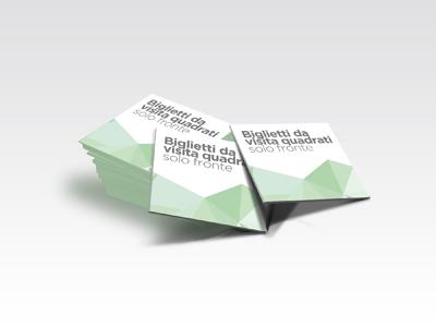 Biglietti da visita quadrati fronte plastificati for Parati plastificati