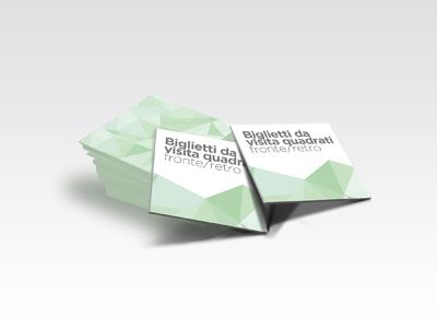 Biglietti da visita quadrati for Parati plastificati