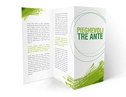 Misure Depliant 3 Ante.Stampa Pieghevoli Online